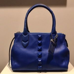 Aimee Kestenberg Leather Royal Blue Satchel